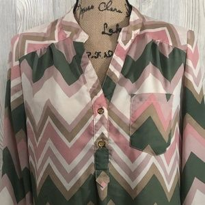 Wishful Park Tops - Wishful Park | Chevron Tunic | #10